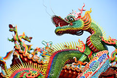 Asian temple dragon Stock Photography