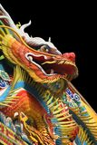 Asian temple dragon. Dragon art  in an Asian temple Royalty Free Stock Photos