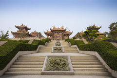 Asian temple and garden Royalty Free Stock Images