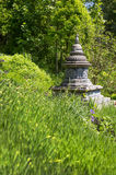 Asian temple like a stupa in the garden. Asiatic background. Stock Photo