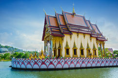 Asian temple on the river. Thailand Royalty Free Stock Photos