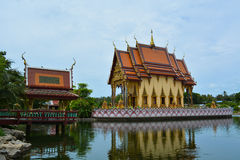 Asian temple in the tropics Stock Image