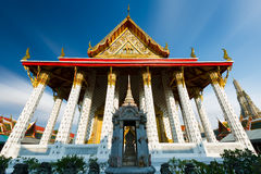 Asian temple in Wat Arun. Royalty Free Stock Photo