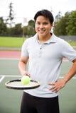 Asian tennis player Stock Image