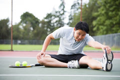 Asian tennis player Stock Image