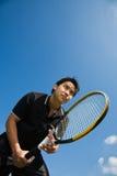 Asian tennis player Royalty Free Stock Photo