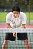 Asian tennis player Stock Photo