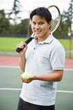 Asian tennis player Royalty Free Stock Image