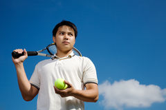 Asian tennis player Royalty Free Stock Photos