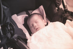 Asian Thai baby sleeping  instagram-like Royalty Free Stock Photography
