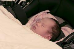 Asian Thai female baby sleeping  instagram-like tone Stock Photos