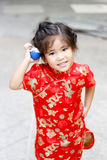 Asian Thai girl play pokemon ball. Asian thai girl smile play pokemon ball toy show funny action stock photos