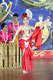 Asian thai women classical thai dance or ram thai for show trave Stock Photo