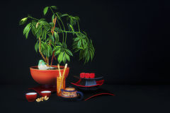 Asian Theme Tea Time Still Life Royalty Free Stock Images