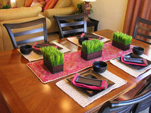 Asian Themed Table Setting Royalty Free Stock Image