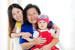 Asian three generations family Royalty Free Stock Photos