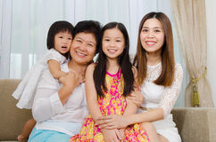 Asian three generations family Royalty Free Stock Photo