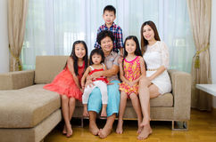 Asian three generations family Stock Photography
