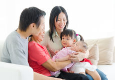 Asian three generations family Royalty Free Stock Photography