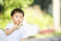 Asian toddler thinking Stock Photos