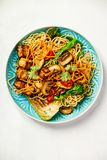 Asian Tofu Soba Noodle Bowl Royalty Free Stock Photo