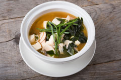 Free Asian Tofu Soup With Seaweed Stock Images - 74798534