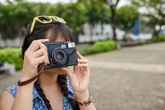 Asian Tourist with Camera royalty free stock images