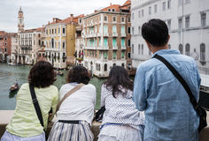 Asian tourist in Venice, Italy Stock Photo