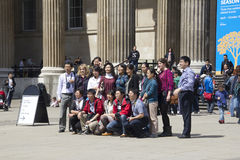 Asian Tourists at the British Museum Stock Photos