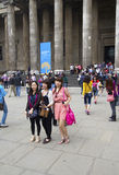 Asian Tourists at the British Museum Royalty Free Stock Photos