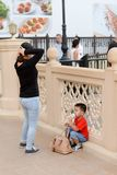 Asian tourists in Dubai. travel lifestyle stock image