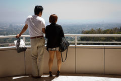 Asian Tourists Getty Museum Stock Image