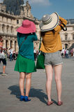 Asian tourists in Louvre Royalty Free Stock Images