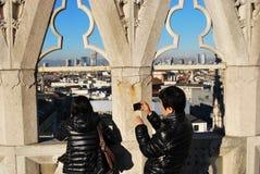 Asian tourists in Milan Stock Photos