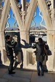 Asian tourists in Milan Royalty Free Stock Image