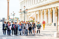 Asian tourists in Venice Stock Image