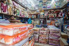 Asian Trading Blankets Store  Royalty Free Stock Photo