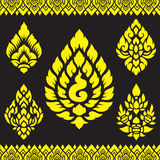 Asian traditional art Design Vector, Thai traditional design ( Lai Thai  ) Royalty Free Stock Photos