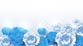 Free Asian Traditional Blue And White Floral Background Royalty Free Stock Image - 135925226