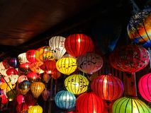 Asian traditional color lights stock photos