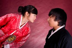 Asian traditional couple Royalty Free Stock Images