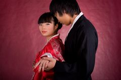 Asian traditional couple Stock Photos