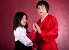 Asian traditional couple Stock Photography