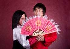 Asian traditional couple Royalty Free Stock Photography