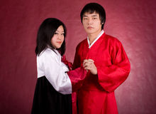 Asian traditional couple Royalty Free Stock Photos