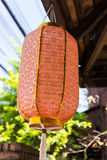 Asian traditional decorating orange paper lantern Stock Photo