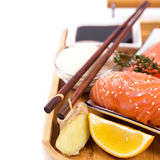 Asian traditional ingredients for sushi Royalty Free Stock Image