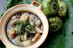 Asian traditional stew vegetarian food Stock Image