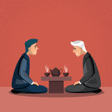Asian Traditional Tea Ceremony Asia Business Man Stock Photo