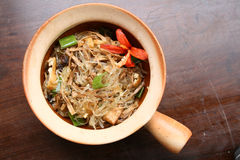 Asian traditional vegetarian food with vermicelli Stock Images